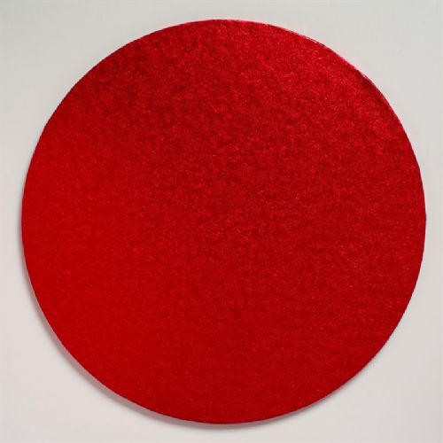 Cake Board Round Red 12'' (304mm)